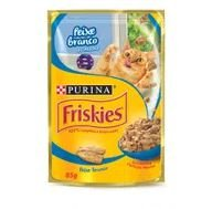 Alimento Gato Friskies 85g Sac Ao Molho Peixe Branco