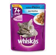Alimento Gato Whiskas 85g Sac Adulto 7 Mais Peixe