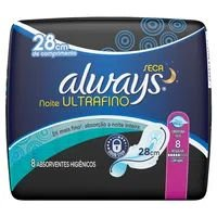Absorvente Always Com 8 U.Fino Not Com Abas