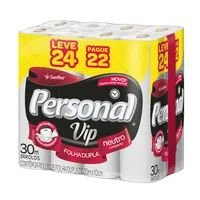 Papel Higienico Folha Dupla Personal Vip Leve 24 Pague 22