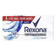 Sabonete Antibact Rexona Com 6 Lvmais Pg Menos Limp Prof 85g