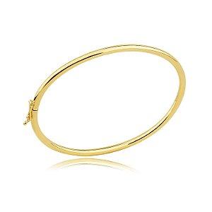 Bracelete feminino dourado em banho ouro 18k