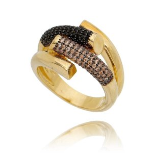 Anel Luxury  banho ouro 18k