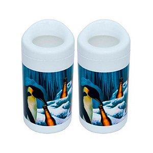 Kit Com 2 Porta Garrafa 600 Ml - Pinguim Doctor Cooler