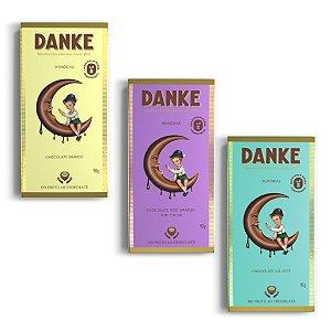 Chocolate Danke - Kit 3 barras 90g cada