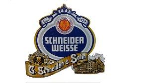 Placa Schneider Weisse Logo 42x36cm - Loja Questão De Gosto