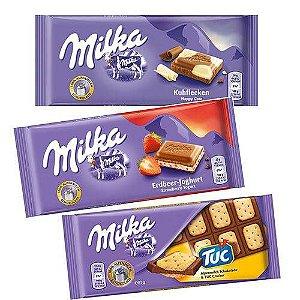 Kit 3 barras sortidas Milka 100gr