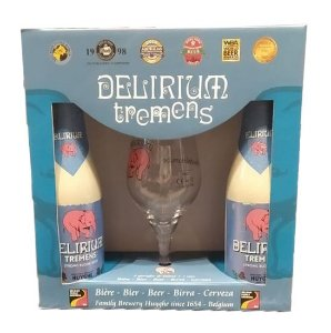 Kit Delirium Tremens - 2 Cervejas + 1 Taça 150ml