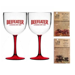 02 Taças Beefeater + Sachês de Especiarias