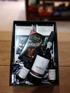 Vinho do Porto com chocolates