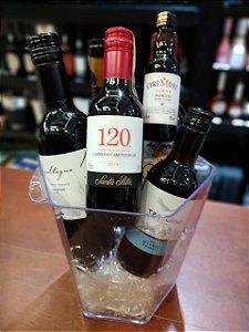 Conjunto de vinhos sortidos