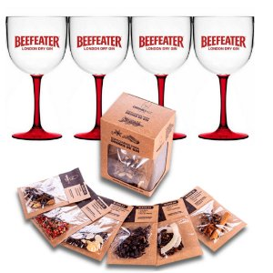 Conjunto com taças Beefeater