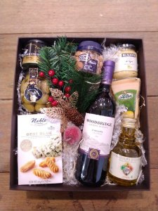 Caixa Presente Vinho e Queijos