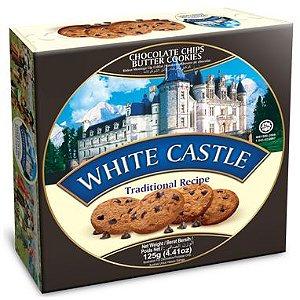 Bisc. White Castle Amanteigado c/ Gotas De Chocolate -125 g