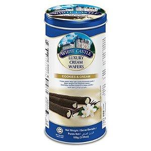 Wafer White Castle Cookies Cream lata- 100g