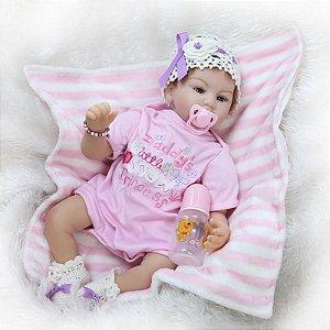 Elsa Little Snow Princess - Boneca Bebê Reborn Menina 55cm