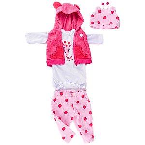 Conjunto de Roupa Bebê Reborn Girafinha