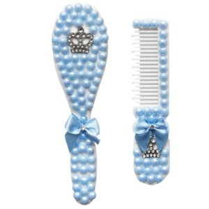 Kit Escova e Pente Luxo - Azul