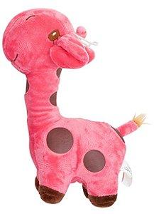 Girafa de Pelúcia Rosa