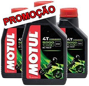 Óleo lubrificante Motul 5000 10W30 - 3 litros