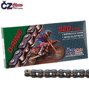 Corrente Cz Chains 520 ORM O'ring 118 elos - até 750cc
