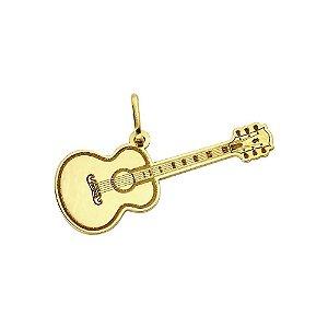 Pingente Musical Violão em Ouro 18K