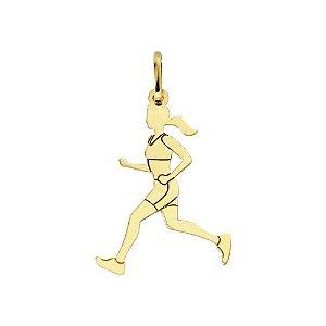 Pingente Esportes Corredora em Ouro 18k