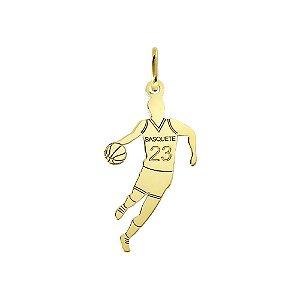 Pingente Esportes Basquete em Ouro 18k