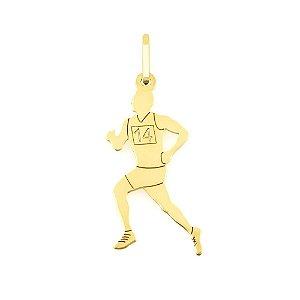 Pingente Corredor de Ouro 18k