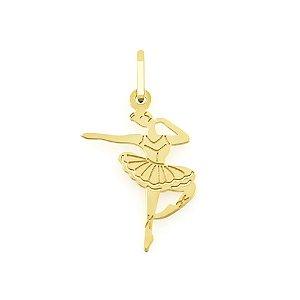 Pingente Bailarina em Ouro 18k