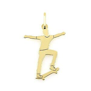 Pingente Skatista de Ouro 18k