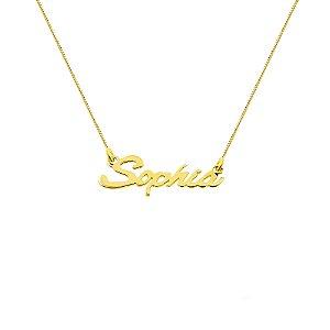Gargantilha de nome Ouro 18k 750 Veneziana 40 cm