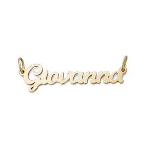 Pingente Nome Personalizado Ouro 18k com até 09 letras