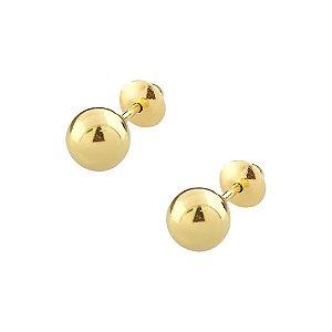 Brinco de Ouro 18K Bolinha 5mm