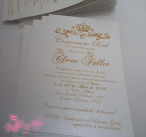 Convite Princesa ou Princípe