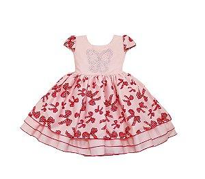 Vestido Infantil Minnie - tam 1 ao 4