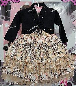 Vestido Infantil Keite com Bolero - tam 1 ao 4
