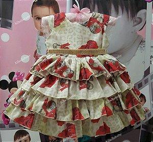 Vestido de Bebe Olivia  - tam P ao G