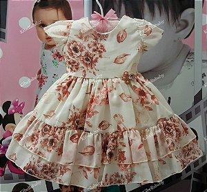 Vestido de Bebê Isa  - tam P ao G
