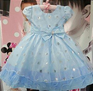 Vestido Infantil Frozen - tam 1 ao 3