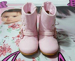 Botinha Infantil Rosa  Sonho de Criança - tam 16x22