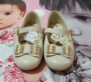 Sapatilha Infantil Marfim Orto Baby -  tam 16 x 22