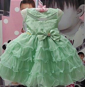 Vestido Infantil Sininho - tam 1 ao 3