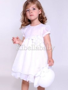 Vestido Infantil de Batizado com Chapéu - tam 1 ao 3