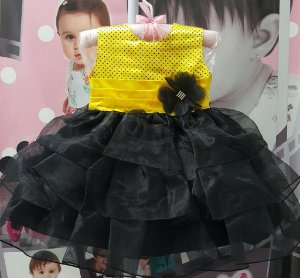 Vestido Infantil Abelhinha - 1 ao 3