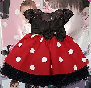 Vestido Infantil Minnie  tam 1 ao 3