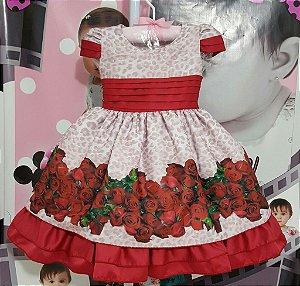 Vestido Infantil Florido Jardim Encantado - tam 1 ao 4