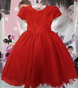 Vestido Infantil de Festa Princesa Luxo - tam 4 ao 8