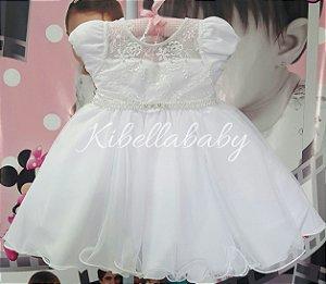 Vestido Infantil de Festa com Cinto  - tam 1 ao 3