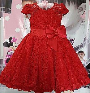 Vestido Infantil/Juvenil Princesa - Tam 4 ao 8